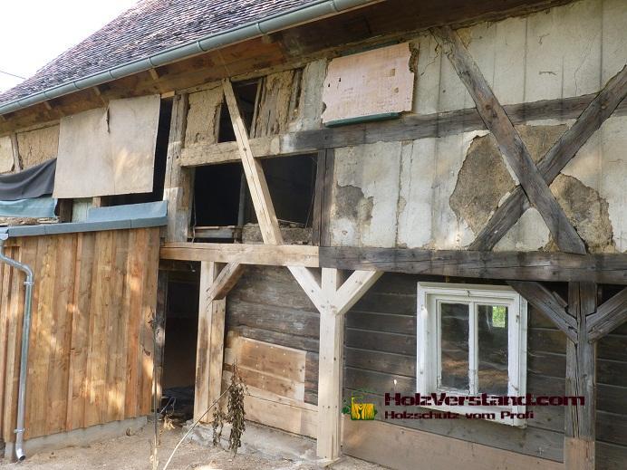 Sanierung und restaurierung am umgebindehaus for Holzschutzmittel fachwerk